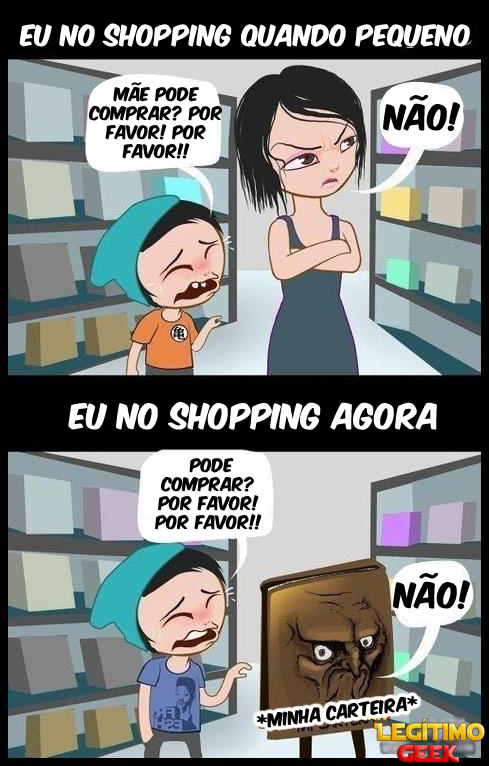 Eu no shopping