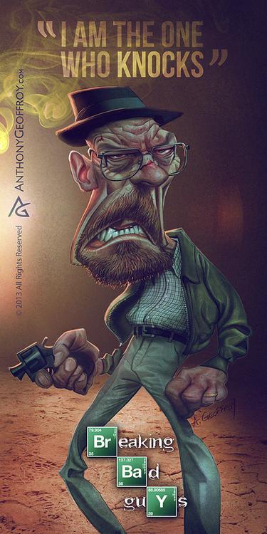 Caricaturas dos personagens de Breaking Bad (1)