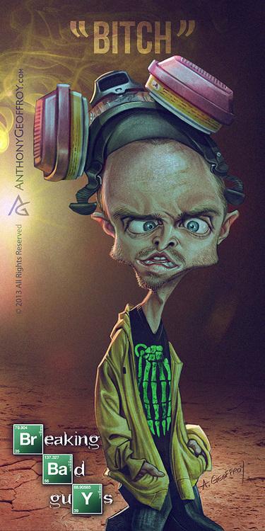 Caricaturas dos personagens de Breaking Bad (2)