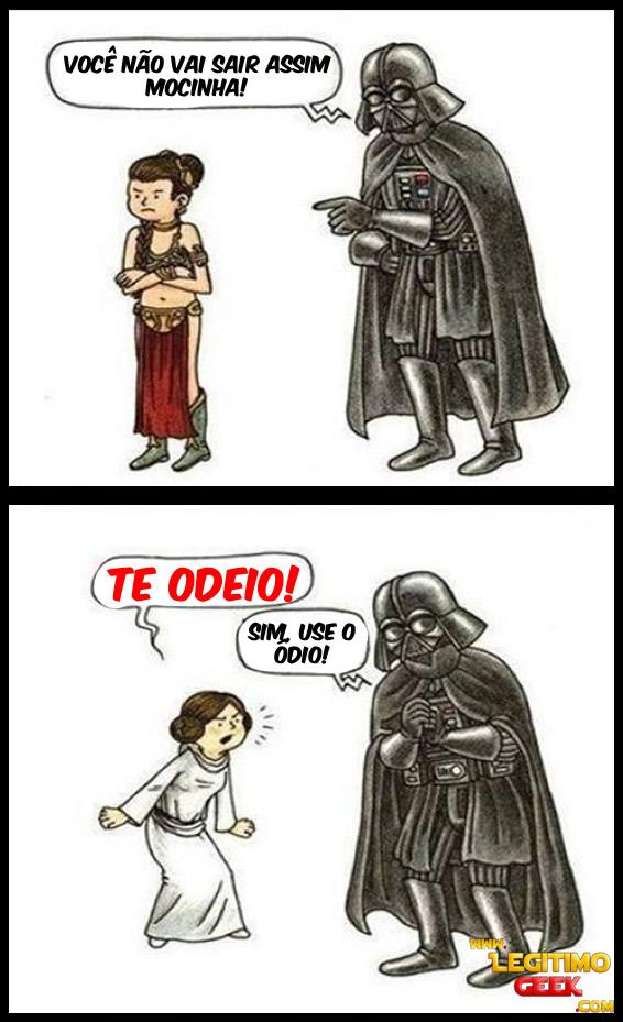 Darth Vader é um pai rigoroso