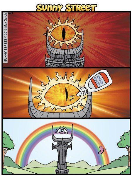 Resolvendo o problema do olho de Sauron