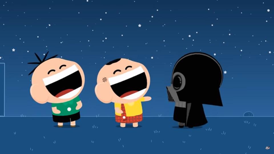 Turma da Mônica encontra Darth Vader